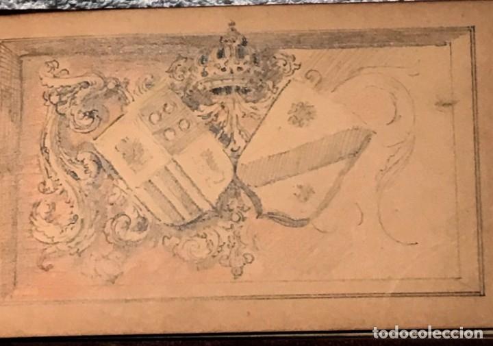 Arte: Autorretrato y cuadernillo de dibujos de José Arija Saiz (Burgos S XIX-Madrid 1920) - Foto 85 - 169460820