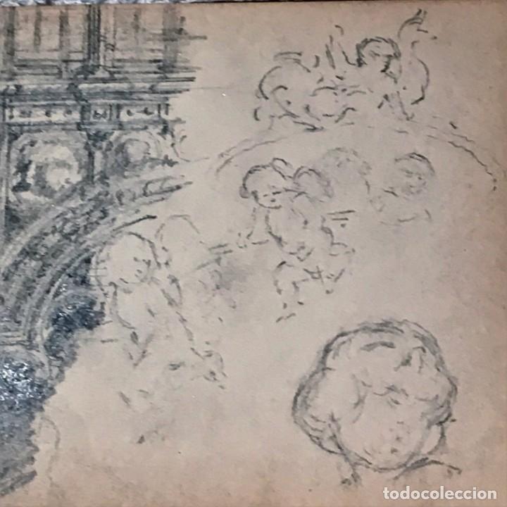 Arte: Autorretrato y cuadernillo de dibujos de José Arija Saiz (Burgos S XIX-Madrid 1920) - Foto 84 - 169460820