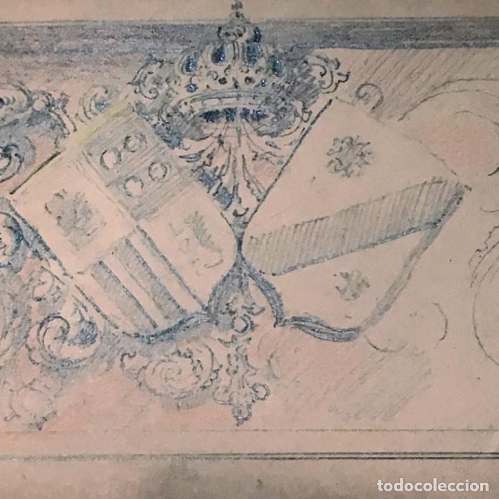 Arte: Autorretrato y cuadernillo de dibujos de José Arija Saiz (Burgos S XIX-Madrid 1920) - Foto 86 - 169460820