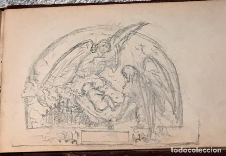 Arte: Autorretrato y cuadernillo de dibujos de José Arija Saiz (Burgos S XIX-Madrid 1920) - Foto 97 - 169460820
