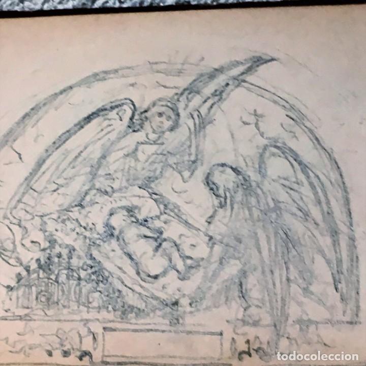 Arte: Autorretrato y cuadernillo de dibujos de José Arija Saiz (Burgos S XIX-Madrid 1920) - Foto 98 - 169460820