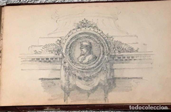 Arte: Autorretrato y cuadernillo de dibujos de José Arija Saiz (Burgos S XIX-Madrid 1920) - Foto 99 - 169460820