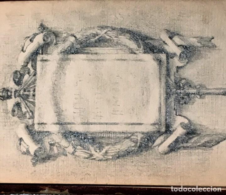 Arte: Autorretrato y cuadernillo de dibujos de José Arija Saiz (Burgos S XIX-Madrid 1920) - Foto 104 - 169460820