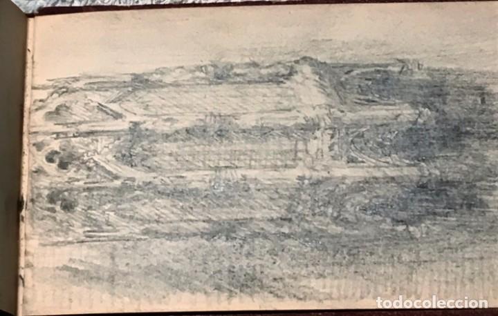 Arte: Autorretrato y cuadernillo de dibujos de José Arija Saiz (Burgos S XIX-Madrid 1920) - Foto 107 - 169460820