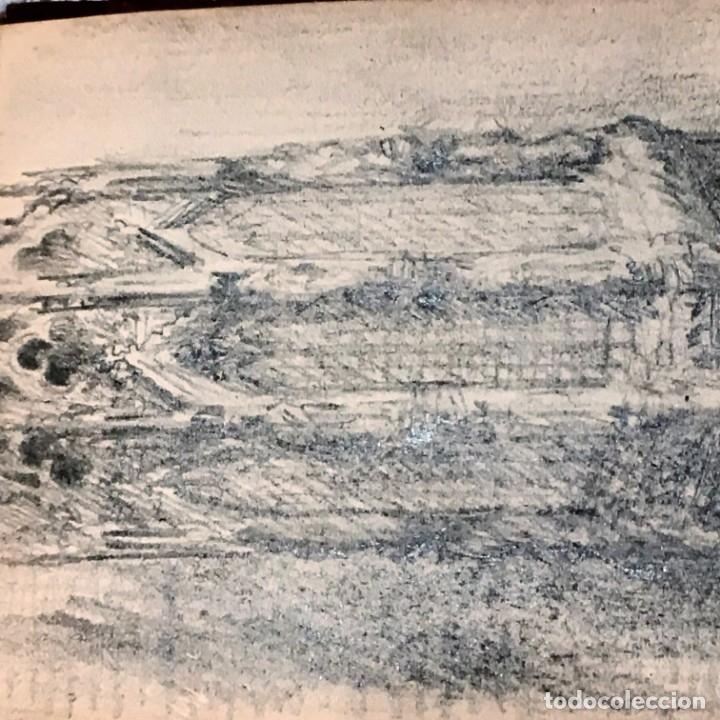 Arte: Autorretrato y cuadernillo de dibujos de José Arija Saiz (Burgos S XIX-Madrid 1920) - Foto 109 - 169460820