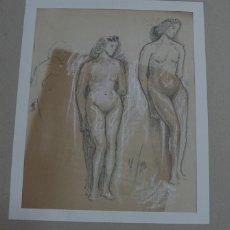 Arte: DIBUJO A LAPIZ Y CARBONCILLO DESNUDOS FEMENINOS. Lote 169671684