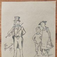 Arte: MARAVILLOSO DIBUJO ORIGINAL A CARBONCILLO DEL SIGLO XIX, FIRMADO Y FECHADO 1889. Lote 170079636