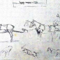 Arte: RICARD ARENYS. LOTE 10 DIBUJOS ORIGINALES. Lote 170095908