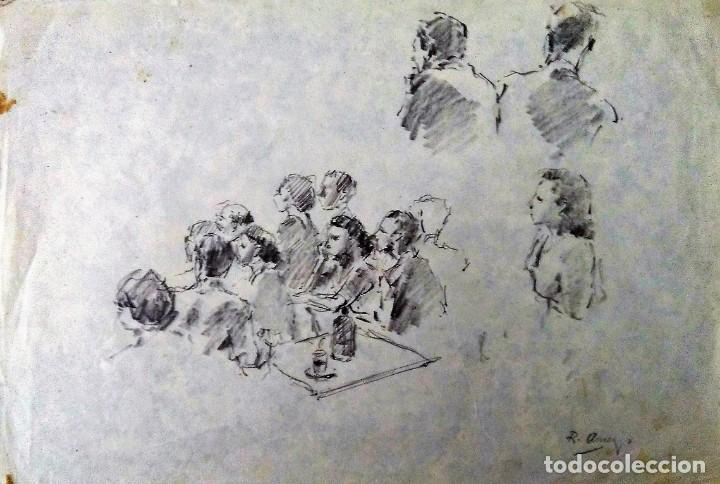 Arte: Ricard Arenys. Lote 10 dibujos originales - Foto 2 - 170095908
