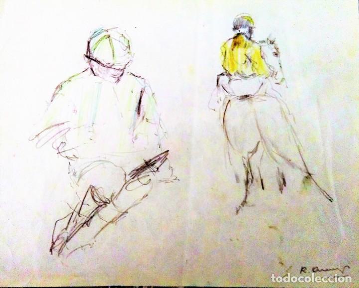 Arte: Ricard Arenys. Lote 10 dibujos originales - Foto 5 - 170095908