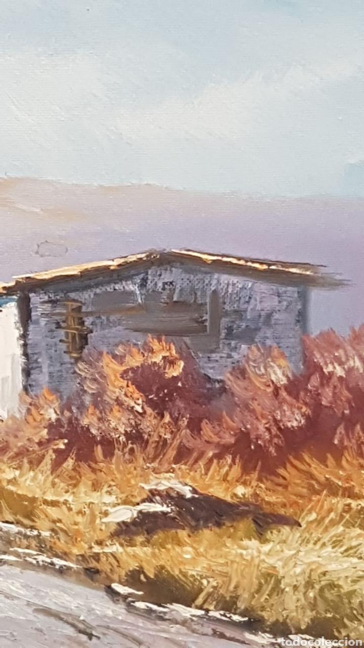 Arte: Paisaje al oleo Escuela Catalana con firma - Foto 4 - 170130526