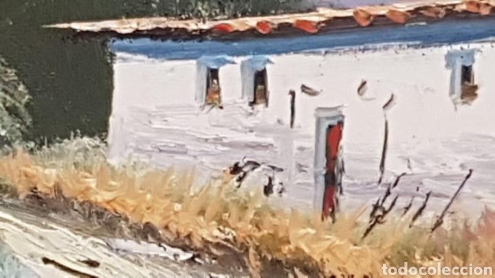Arte: Paisaje al oleo Escuela Catalana con firma - Foto 5 - 170130526