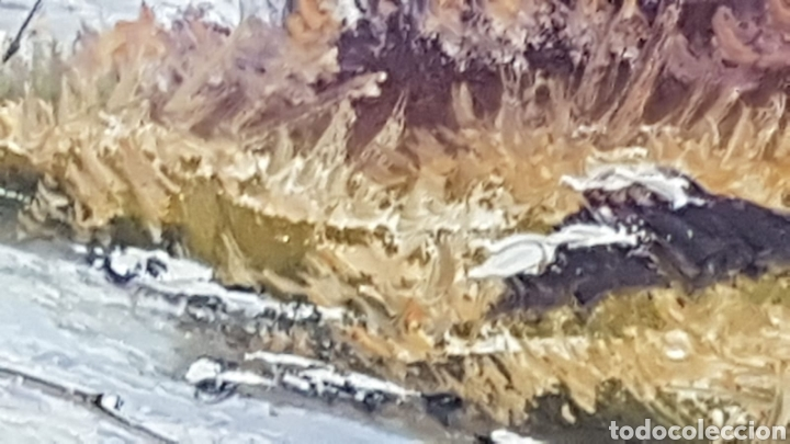 Arte: Paisaje al oleo Escuela Catalana con firma - Foto 6 - 170130526