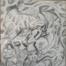 Arte: DIBUJO A LAPIZ Y CARBONCILLO TAMAÑO POSTER FIRMADO CORBE. Lote 170142108