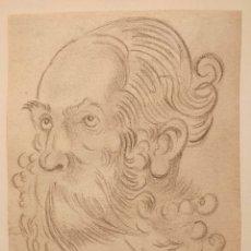Arte: MARAVILLOSO RETRATO A CARBONCILLO, ESTILO OLD MASTER, CALIDAD. Lote 170411992