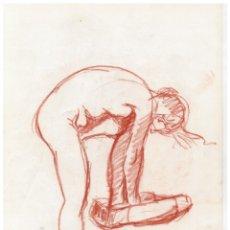 Arte: DIBUJO ORIGINAL DESNUDO FEMENINO - FIRMADO BARNADES - 29,5 CM X 21 CM.. Lote 170664500