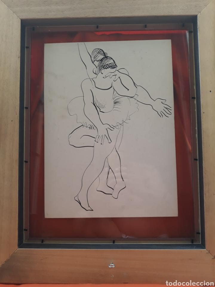 Arte: PACO HERNÁNDEZ GRAN DIBUJO A DOS CARAS CERTIFICADO - Foto 7 - 171224548
