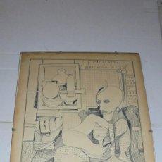Arte: (M) ALBERTO TELLO 84 - ANTIGUO DIBUJO A PLUMILLA 30X21 CM. . Lote 171342607