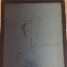 Arte: DIBUJO BOCETO POR EL PRESTIGIOSO PINTOR GABRIEL MEJÍA MORALES GOTY. Lote 171414933