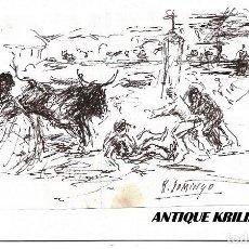 Arte: DIBUJO A PLUMILLA AUTOR ROBERTO DOMINGO .- MEDIDAS 13.5 X 9. Lote 171588675