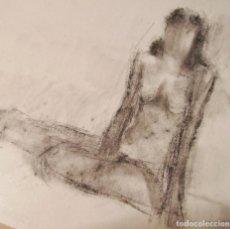 Arte: DIBUJO AL CARBÓN DE FIGURA FEMENINA . Lote 171627719
