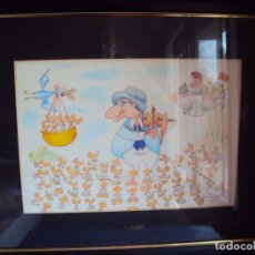 Arte: (ANT-190790)DIBUJO ORIGINAL DE XAVIER CUGAT,FIRMADO Y REVERSO CON OTRO DIBUJO MIRAR FOTOS. Lote 171668299