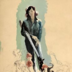 Arte: RICARD ARENYS - TÉCNICA MIXTA SOBRE PAPEL -. Lote 172003038