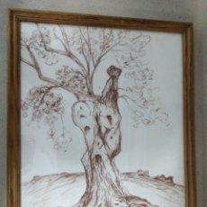 Arte: CUADRO DE MARIE PIERRE LECOUFLE 43X35CTMS ( CON OBRA EN EL MUSEO ARTE MODERNO DE TARRAGONA). Lote 172250703