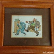 Arte: DIBUJO COLOREADO ORIGINAL DE GAITÁ CORNET I PALAU . Lote 172679714