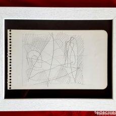 Arte: RAFOLS CASAMADA DIBUJO A LAPIZ CON CERTIFICADO DE AUTENTICIDAD. Lote 172797050