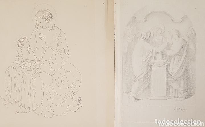 Arte: Dario Vilás Fernández (1880- 1950) - 2 Dibujos Religiosos.Tinta y Grafiti.Firmados. - Foto 9 - 158522858