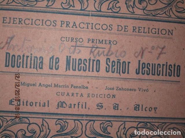 Arte: alicante alcoy antiguo album religioso de dibujos doctrina nuestro señor jesucristo - Foto 2 - 173058468