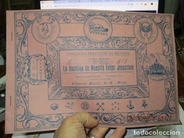 Arte: alicante alcoy antiguo album religioso de dibujos doctrina nuestro señor jesucristo - Foto 3 - 173058468