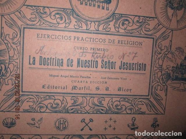 Arte: alicante alcoy antiguo album religioso de dibujos doctrina nuestro señor jesucristo - Foto 4 - 173058468