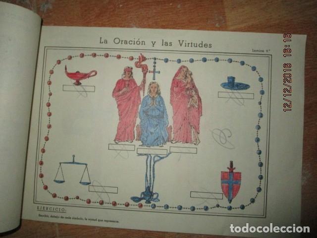 Arte: alicante alcoy antiguo album religioso de dibujos doctrina nuestro señor jesucristo - Foto 14 - 173058468