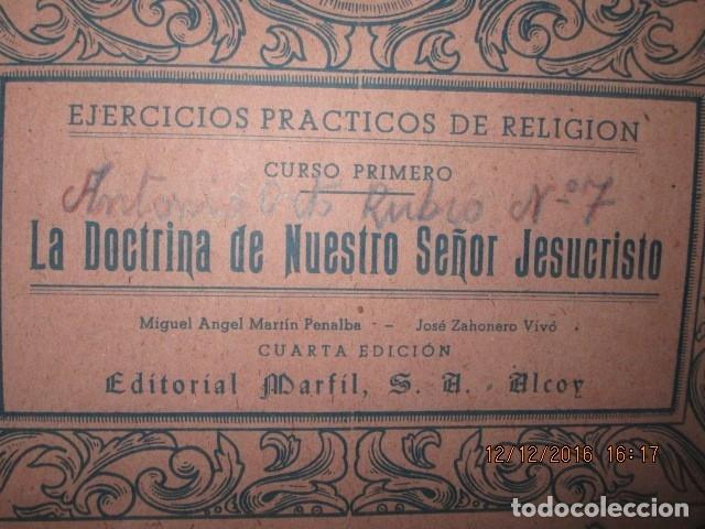 ALICANTE ALCOY ANTIGUO ALBUM RELIGIOSO DE DIBUJOS DOCTRINA NUESTRO SEÑOR JESUCRISTO (Arte - Dibujos - Modernos siglo XIX)