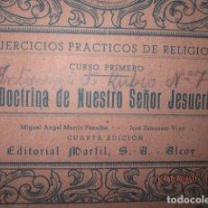 Arte: ALICANTE ALCOY ANTIGUO ALBUM RELIGIOSO DE DIBUJOS DOCTRINA NUESTRO SEÑOR JESUCRISTO. Lote 173058468