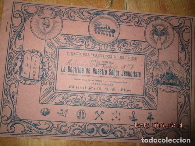 Arte: alicante alcoy antiguo album religioso de dibujos doctrina nuestro señor jesucristo - Foto 18 - 173058468