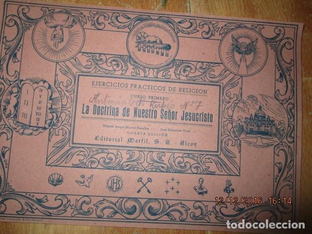 Arte: alicante alcoy antiguo album religioso de dibujos doctrina nuestro señor jesucristo - Foto 10 - 173058468