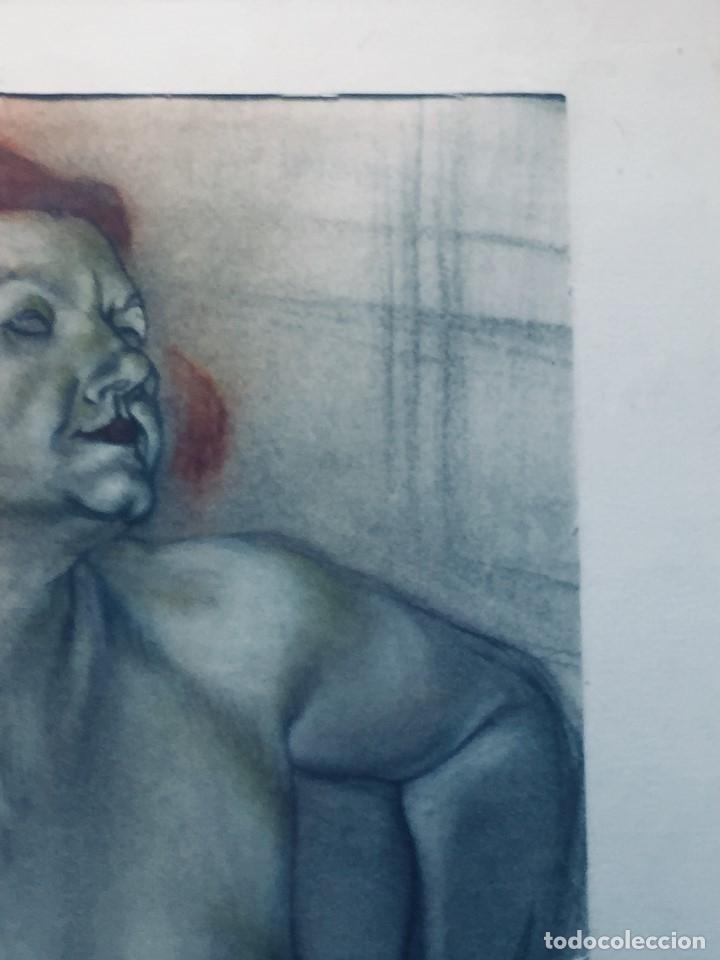 Dibujo Mujer Desnuda Pelirroja Estilo Centro Europa Alemania Firma Y 99 Pastel Ceras 61x46cms