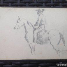 Arte: MANUEL GARCÍA RODRÍGUEZ. HOMBRE A CARBALLO.. Lote 173071918