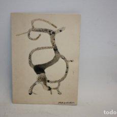 Arte: MODEST RODRIGUEZ CRUELLS - TECNICA MIXTA - FELICITACIÓN NAVIDAD - 1960.. Lote 173119300