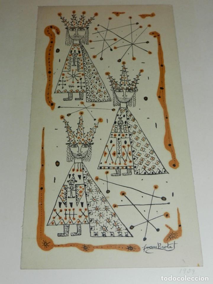 (M) DIBUJO ORIGINAL DE JOAN BROTAT 1959 (BARCELONA 1920 - 1990) ENMARCADO (Arte - Dibujos - Contemporáneos siglo XX)