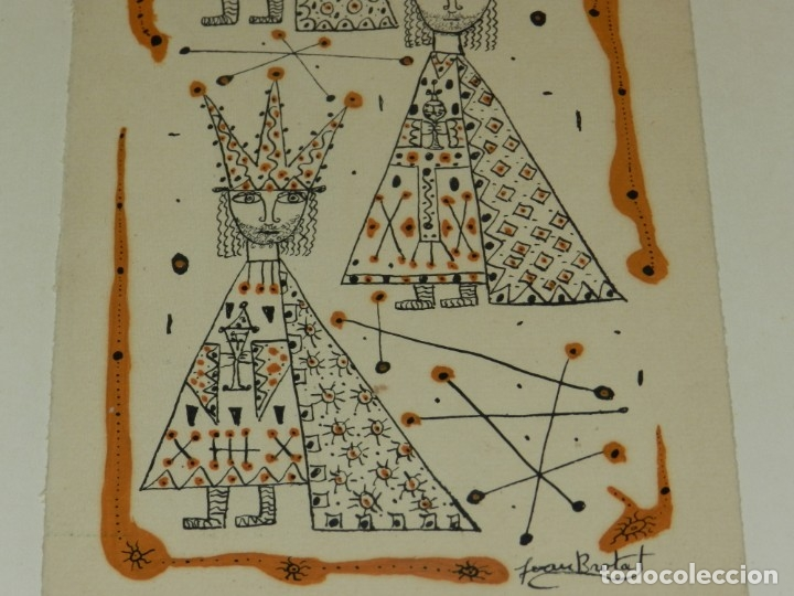 Arte: (M) Dibujo Original de Joan Brotat 1959 (Barcelona 1920 - 1990) Enmarcado - Foto 3 - 173147335