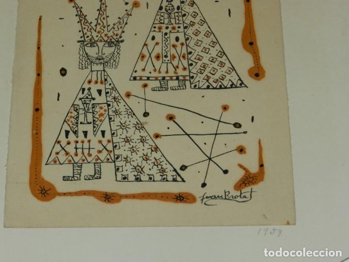 Arte: (M) Dibujo Original de Joan Brotat 1959 (Barcelona 1920 - 1990) Enmarcado - Foto 4 - 173147335