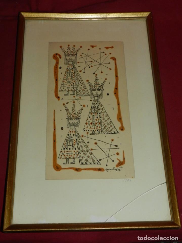 Arte: (M) Dibujo Original de Joan Brotat 1959 (Barcelona 1920 - 1990) Enmarcado - Foto 5 - 173147335
