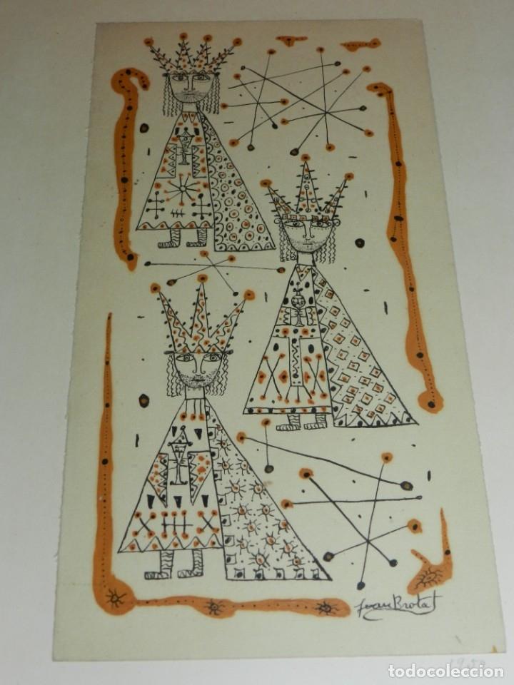 Arte: (M) Dibujo Original de Joan Brotat 1959 (Barcelona 1920 - 1990) Enmarcado - Foto 6 - 173147335