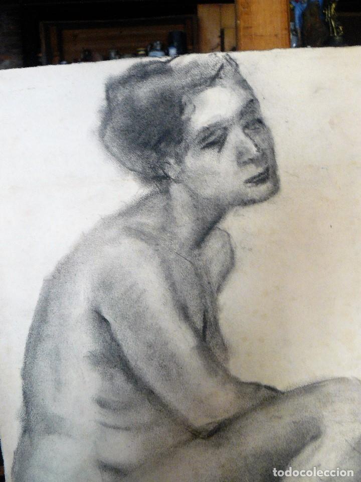 Arte: DIBUJO AL CARBONCILLO, DESNUDO FEMENINO, AÑOS 30/40 - Foto 3 - 173373154
