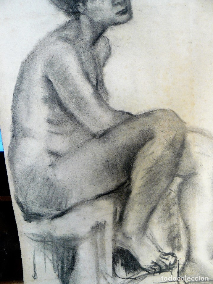 Arte: DIBUJO AL CARBONCILLO, DESNUDO FEMENINO, AÑOS 30/40 - Foto 4 - 173373154
