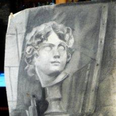 Arte: DIBUJO A CARBONCILLO - BUSTO MASCULINO - FDO V MOYS AÑOS 30/40. Lote 173378157